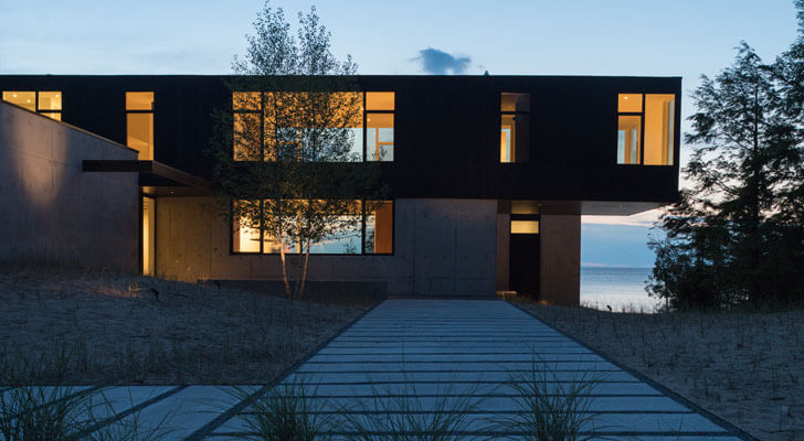"""camp minoh lake michigan architect william kaven indiaartndesign"""