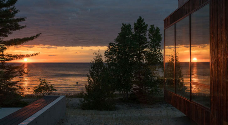 """lake view camp minoh lake michigan architect william kaven indiaartndesign"""