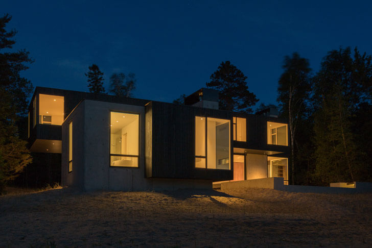 """rear view camp minoh lake michigan architect william kaven indiaartndesign"""