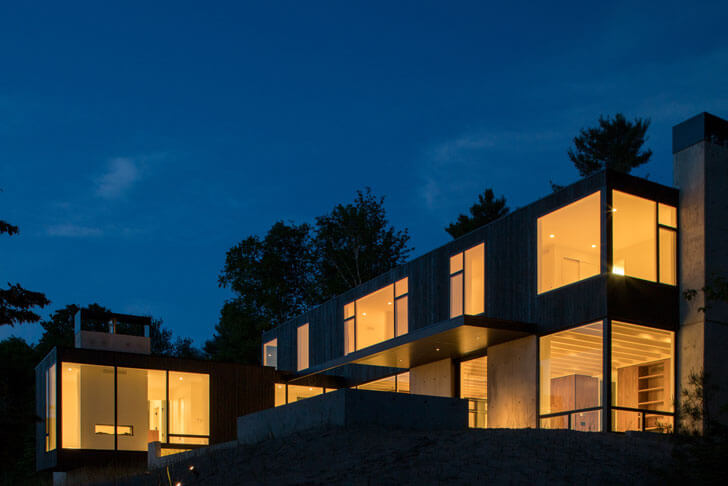 """side view camp minoh lake michigan architect william kaven indiaartndesign"""
