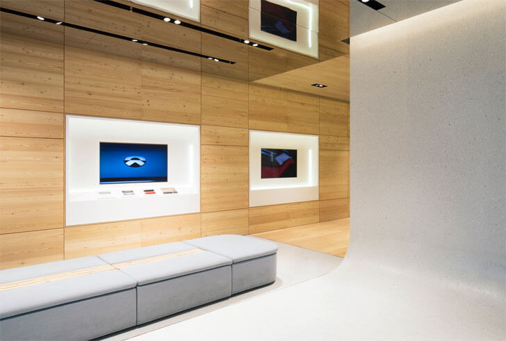 """seating NIO showroom SHL Architects indiaartndesign"""