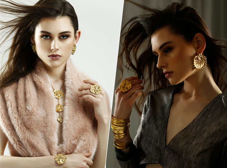 """Shaheen Abbas label Flower child oro crudo collection indiaartndesign"""