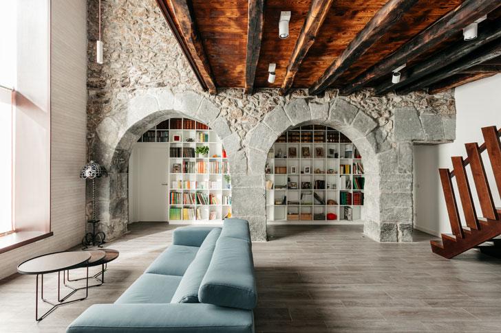"""stone arches Goizko House Bilbao architecture indiaartndesign"""