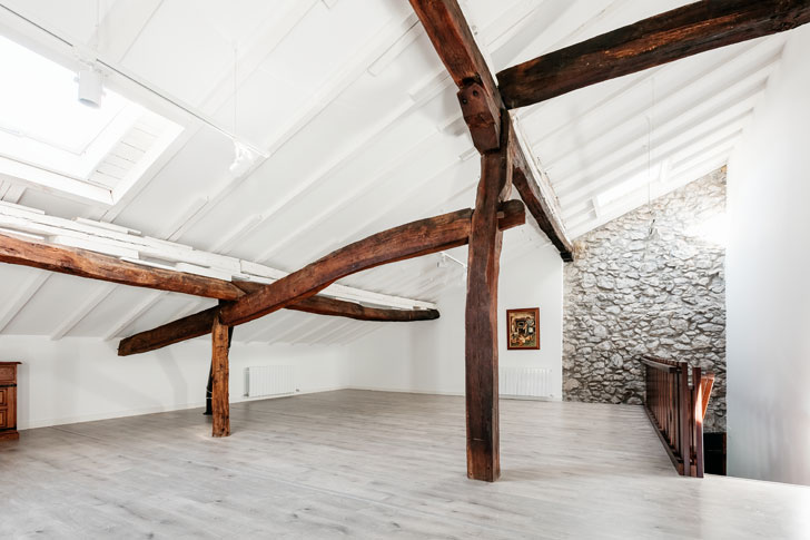 """oak wood supports Goizko House Bilbao architecture indiaartndesign"""