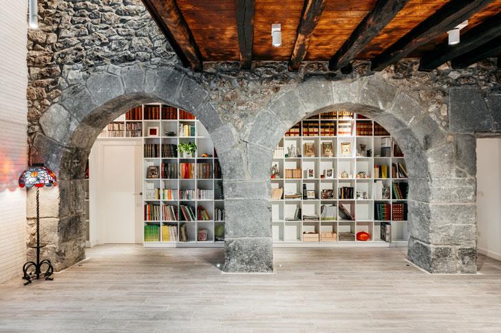 """bookshelves Goizko House Bilbao architecture indiaartndesign"""