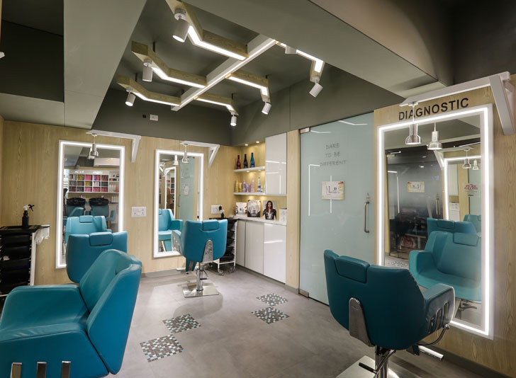 """grooming corner aesthetics salon chitte architects indiaartndesign"""