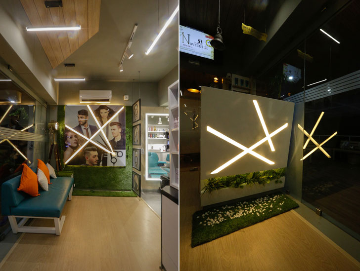 """oblique lights aesthetics salon chitte architects indiaartndesign"""