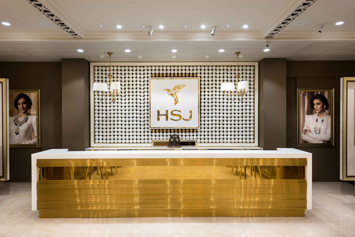 """reception counter HSJ jewellery RMDK indiaartndesign"""
