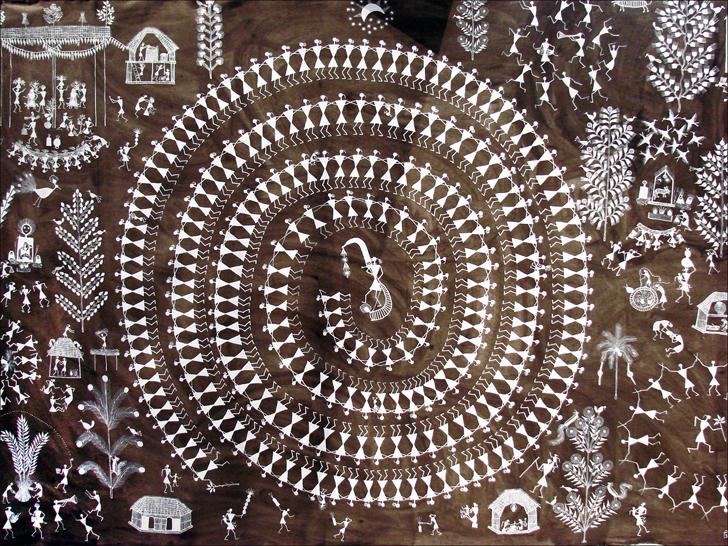 """warli painting by jivya soma mashe indiaartndesign"""