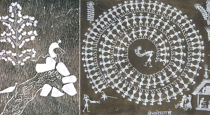 """jivya soma mashe warli painting indiaartndesign"""