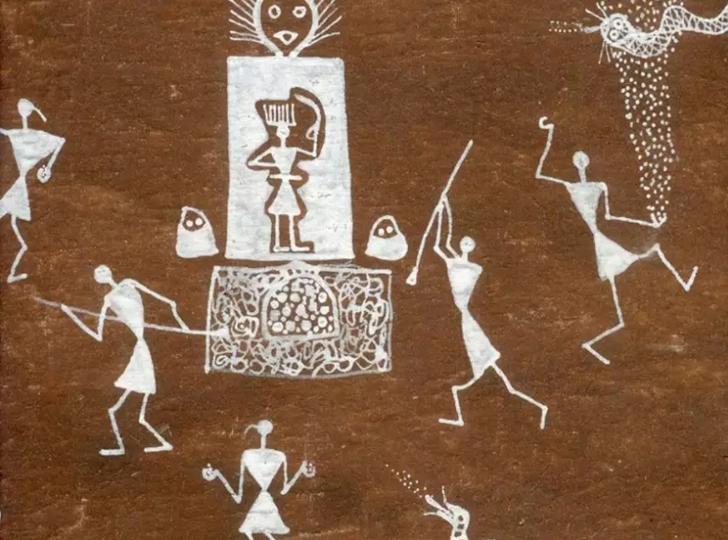 """jivya soma mashe warli artist detail indiaartndesign"""