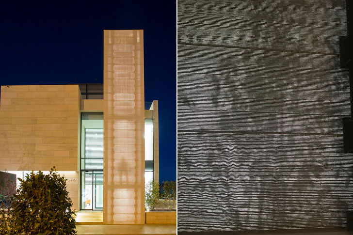 """translucent concrete shadow play capital bank LUCEM paradigmDH indiaartndesign"""