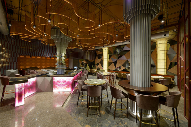 """masala bar majestic columns sumessh menon indiaartndesign"""