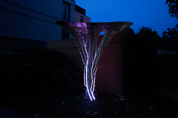 """art installation glowing in the dark Photoptosis orproject indiaartndesign"""