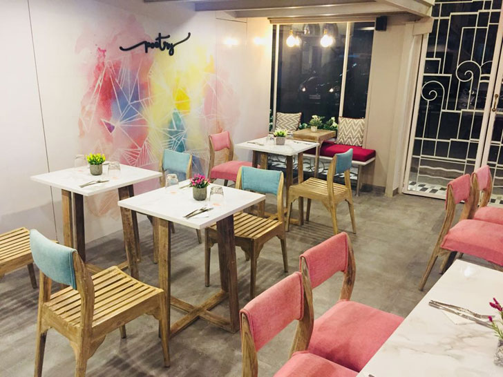 """kalaghoda poetry restaurants swati shah designs indiaartndesign"""