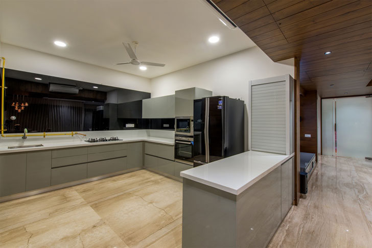 """kitchen residence shalin gandhi indiaartndesign"""