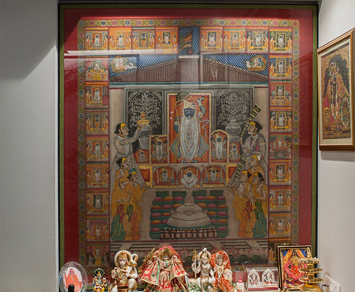 """pichwai in temple untitled design indiaartndesign"""