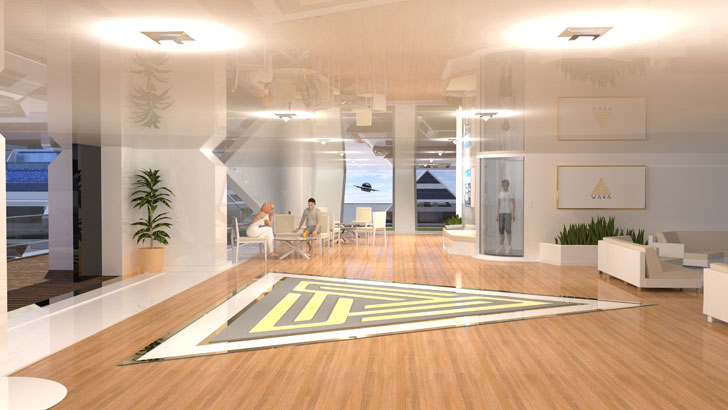 """interiors lobby wayaland lazzarini design indiaartndesign"""