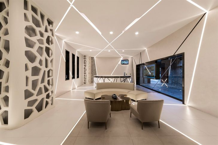 """lobby FAAS medical spa Alberto Apostoli architect indiaartndesign"""