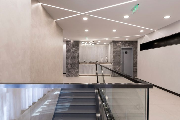 """staircase FAAS medical spa Alberto Apostoli architect indiaartndesign"""
