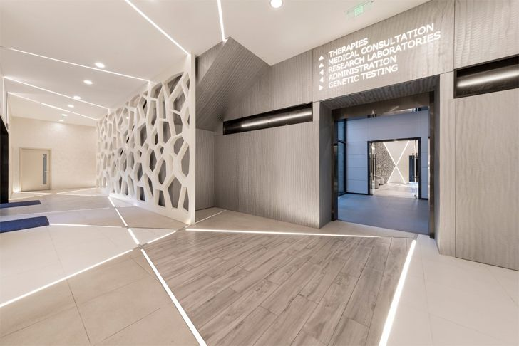 """stem cell like mesh partition FAAS medical spa Alberto Apostoli architect indiaartndesign"""