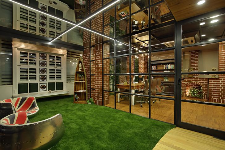 """indoor garden office interior chitte associates indiaartndesign"""