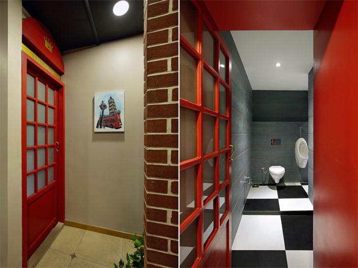 """recreating telephone booth office interior chitte associates indiaartndesign"""