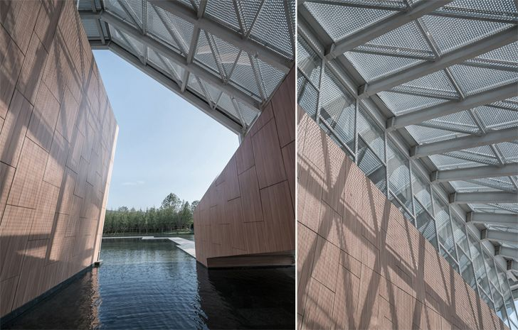"""canopy details Guofeng Library Dalian Lacime Architects indiaartndesign"""