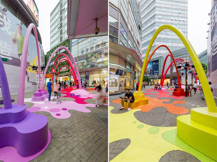 """paint drop life hub shanghai 100architects indiaartndesign"""