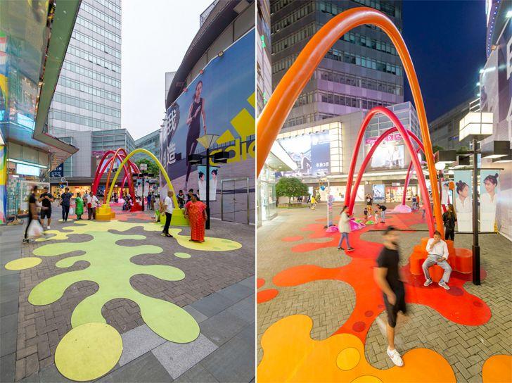 """paint drop life hub shanghai 100architects indiaartndesign"""