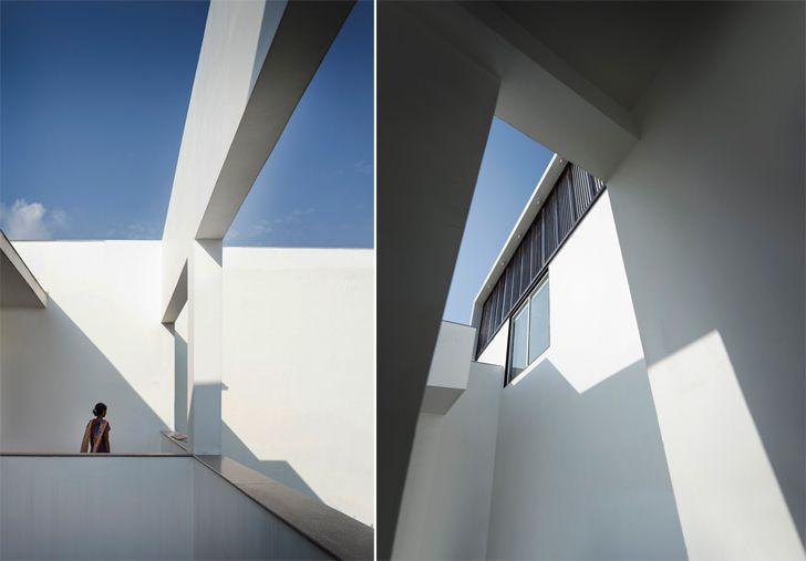 """open-to-sky corridors casa forma renesa architecture indiaartndesign"""