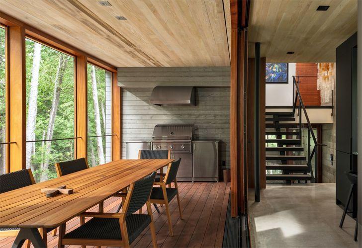 """dining petaluma house Trevor McIvor Architect indiaartndesign"""