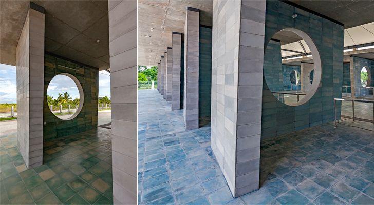 """juxtaposing walls solidaridad village market tjep Vaastukalpa architects indiaartndesign"""