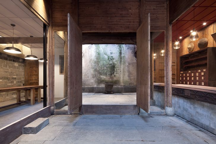 """entrance Wuyuan Skywells hotel anySCALE architecture design studio indiaartndesign"""