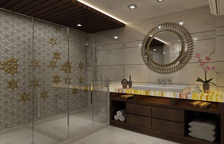 """luxurious bathroom ansa interiors indiaartndesign"""
