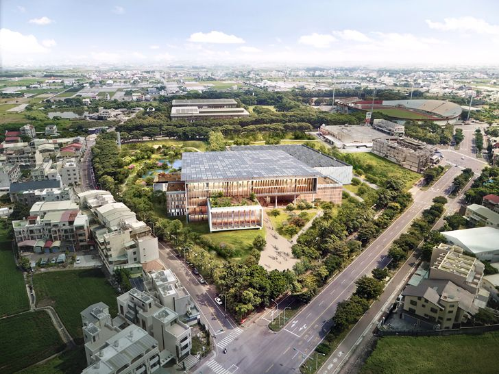 """birds eye view taiwan library carlo ratti indiaartndesign"""