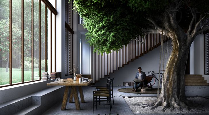 """house around a tree carlo ratti associati indiaartndesign"""