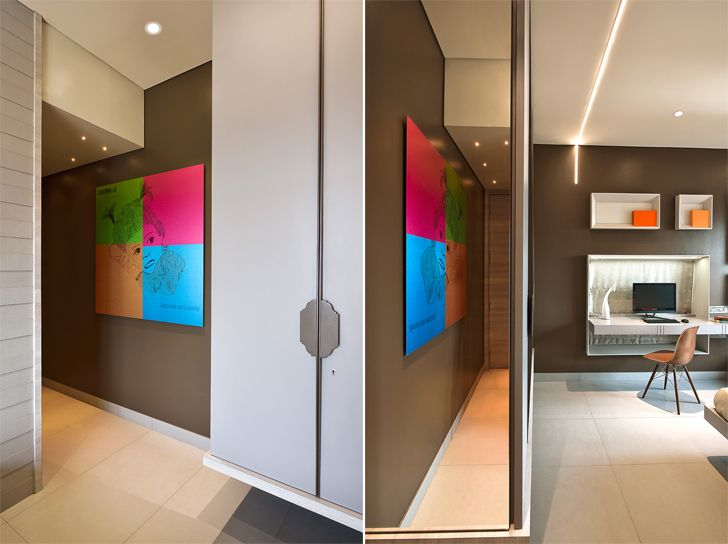 """mirror enhancing space residence HS Desiigns indiaartndesign"""