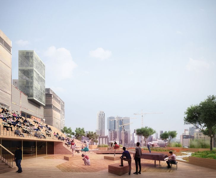 """Maassilo roof transformation events stage JA architects indiaartndesign"""