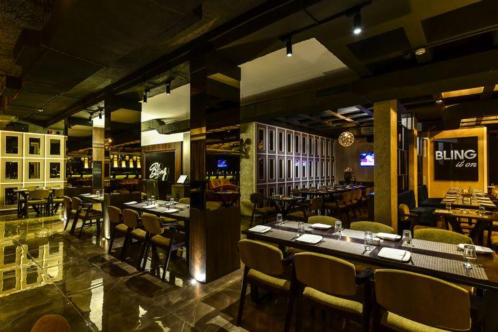 """""""glossy floor tiles bling restaurant kinteriors indiaartndesign"""""""