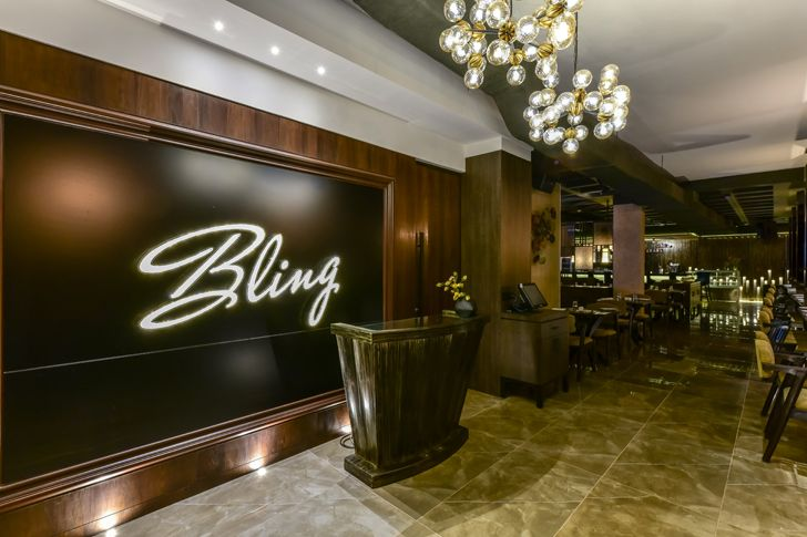 """reception bling restaurant kinteriors indiaartndesign"""