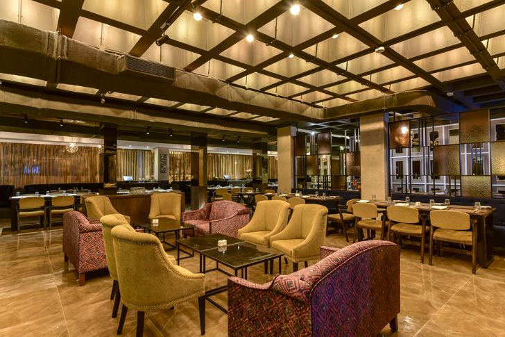 """textured furnishings bling restaurant kinteriors indiaartndesign"""