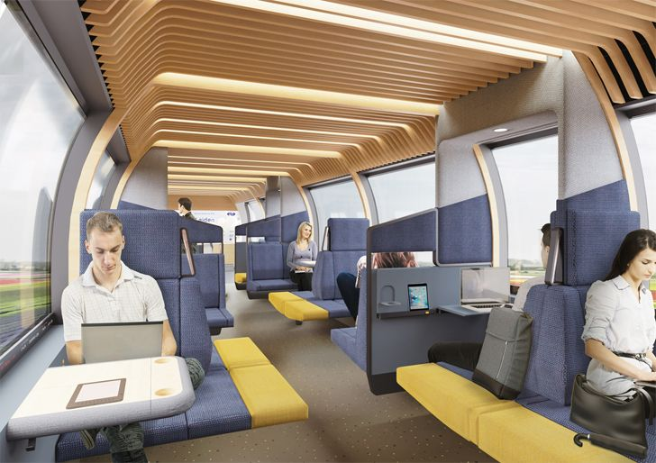 """interior train of the future mecanoo indiaartndesign"""