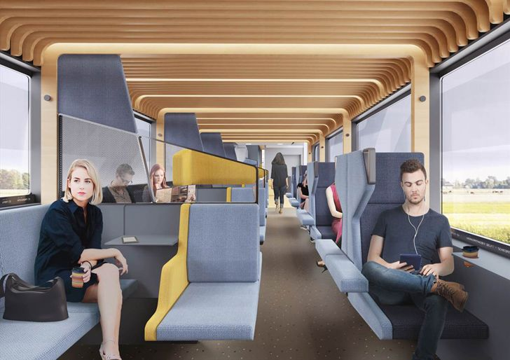 """middle coach lower level train of the future mecanoo indiaartndesign"""