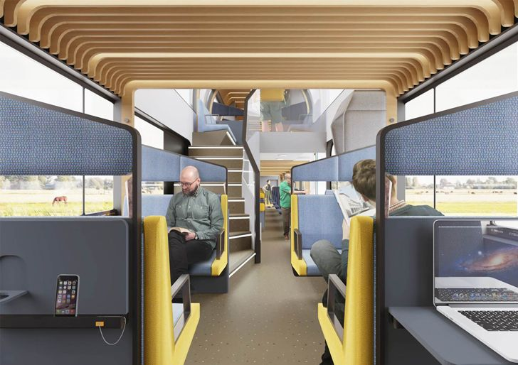 """relaxation zone middle coach train of the future mecanoo indiaartndesign"""