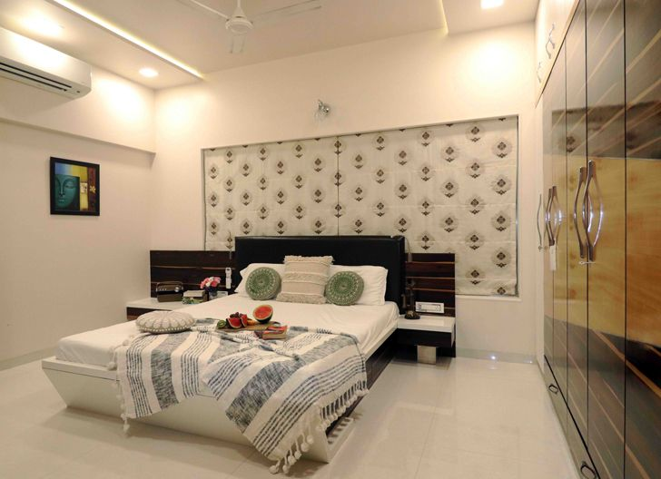 """bed throw bedroom residence patil design studio indiaartndesign"""