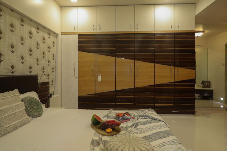 """fabric blinds bedroom residence patil design studio indiaartndesign"""