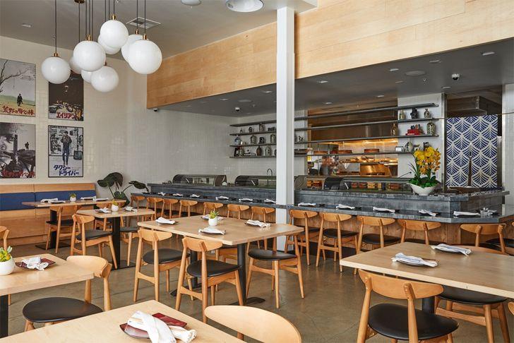 """restaurant Sake Dojo LA Wick-A+D LAND Design Studio indiaartndesign"""