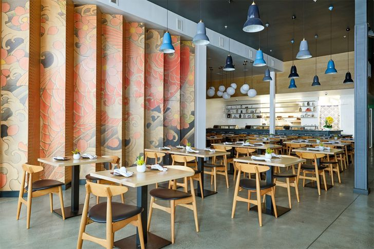 """tattooed interiors Sake Dojo LA Wick-A+D LAND Design Studio indiaartndesign"""