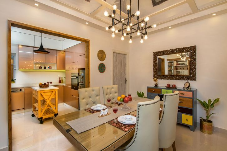 """dining area interiors by ranjani IBR designs indiaartndesign"""